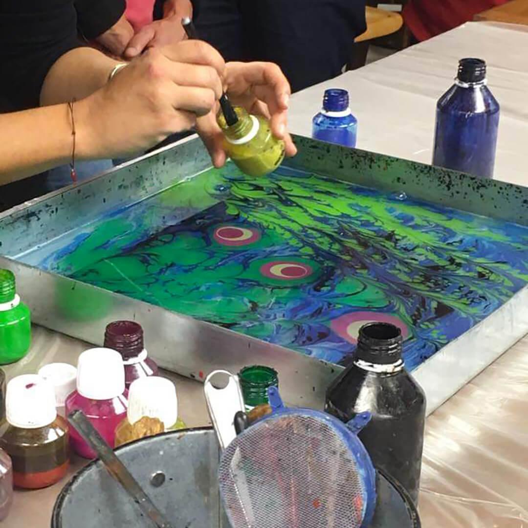 Dipinto sull'acqua emporio mida 2